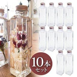 日本製 ハーバリウム 四角柱ガラス瓶 150cc 10本セット