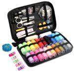 Qisiewell 裁縫セット ソーイングセット 22種カラー鮮やかな縫い糸
